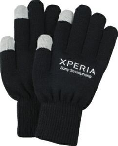 Buy Smartphone Gloves With Silver Thread