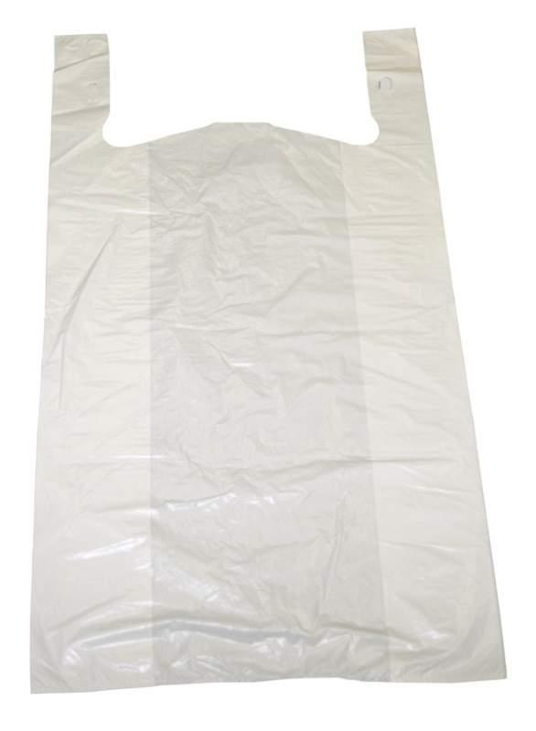 "Buy Plain white bag 1/10 13 mic 8"" x 5"" x 15"" pkd 1/1800"