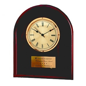 Buy Arched Solid Cherry Wood Clock