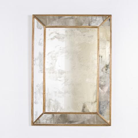 Buy Dion Gold Leaf Rectangular Antique Mirror