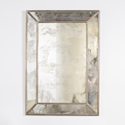 Buy Silver Leaf Rectangular Antique Mirror