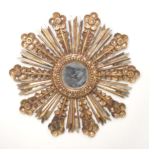 Buy Bella Gold Leaf Starburst Mirror