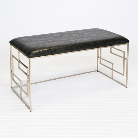 Buy Devin Silver Leafed Bench