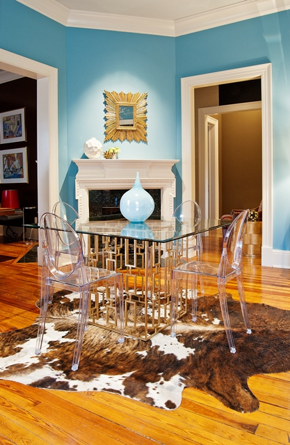 Buy Gold Leaf Square Dining Table