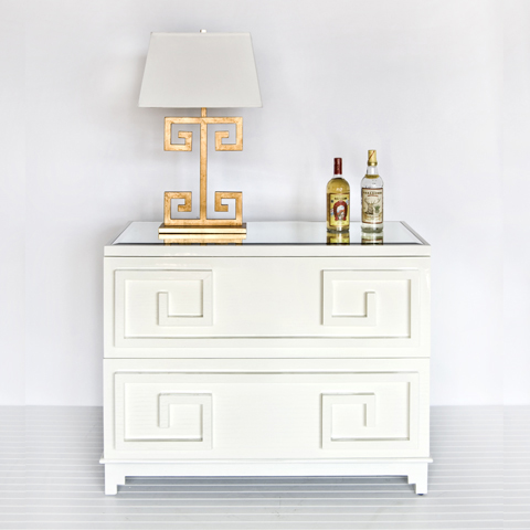 Buy Wrenfield White Lacquer 2 Drawer Chest