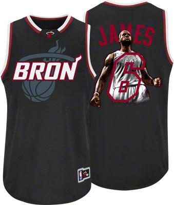 Buy LeBron James Miami Heat 'Bron' Majestic Notorious Jersey