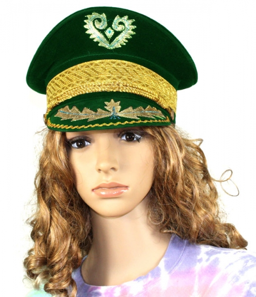 Buy Green Velvet Marching Band Hat