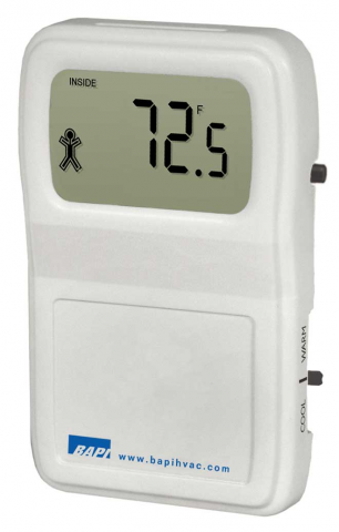 BAPI-Stat 4 - Room Temperature Sensor with Display and Slide Setpoint