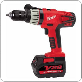 "Buy Hammer Drill Driver 1/2"" 28V cordless Variable Speed 2 cycle rates 072424"