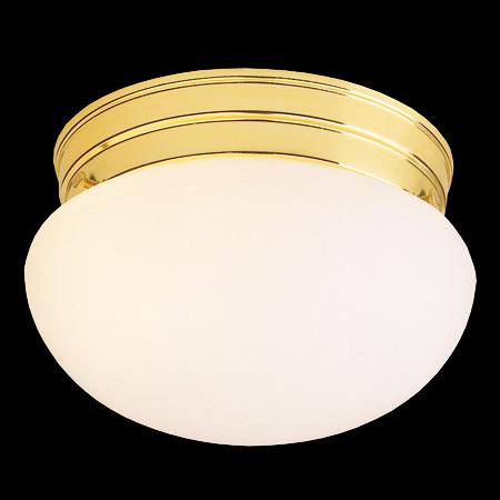 Buy One Light Brass Mushroom Flush Mount