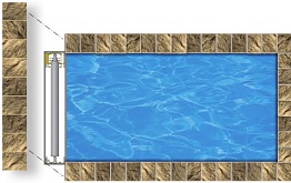 Mini InfinityTM Automatic Swimming Pool Cover System