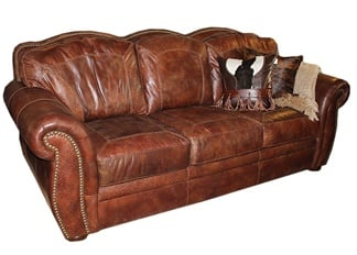 Aspen Artistic Leather Sofa