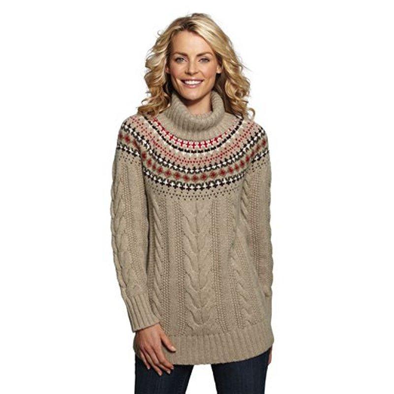 Women's Regular Lightheart Nordic Turtleneck Sweater, Dodgeville