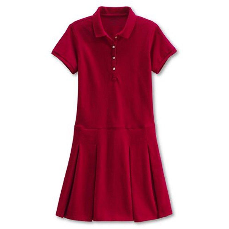 Buy Girls' Short Sleeve Mesh Polo Dress