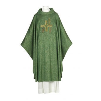 Buy Abel Green Chasuble With Roll Collar