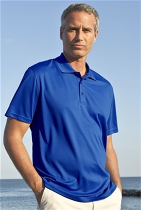 Buy Omega Solid Mesh Tech Polo Shirt