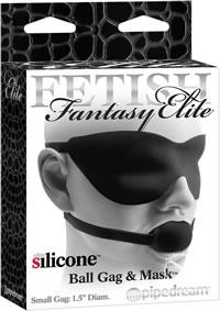 Buy Fetish Fantasy Elite Ball Gag & Mask Large Black