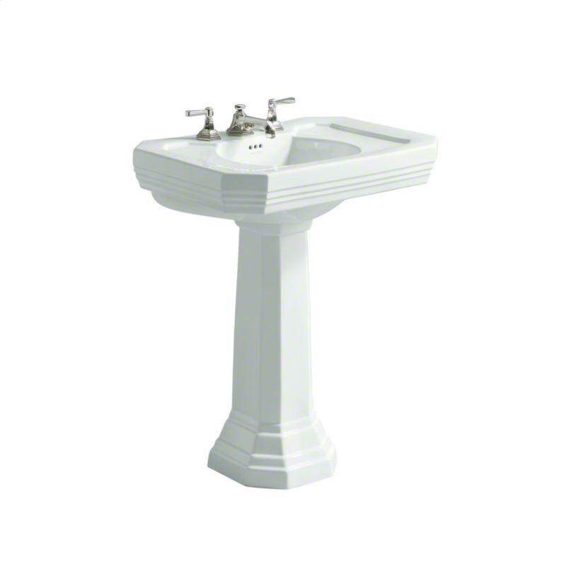 "Buy Stucco White For Town by Michael S Smith 27"" Pedestal Sink"