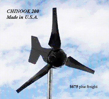 Buy The CHINOOK 200 Wind Turbine