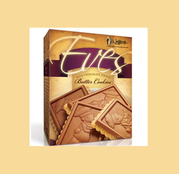 Buy Eves - Milk Chocolate Topped Butter Cookie