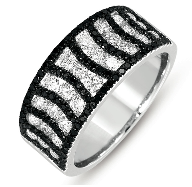 Buy D4278BLWG White Gold Black & White Diamond Ring