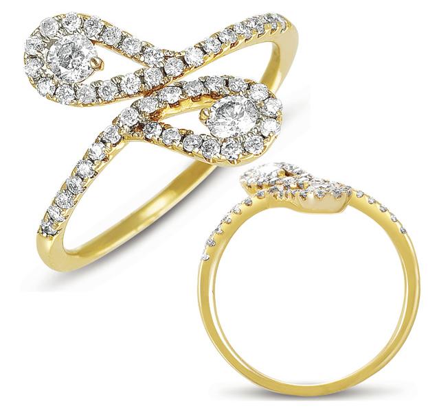 Buy D4084 Yellow Gold Diamond Ring