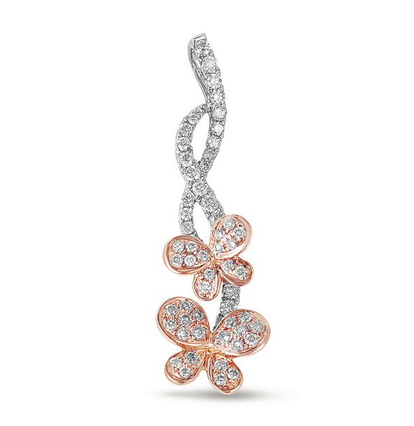 Buy P3191RW White & Rose Gold Diamond Pendant