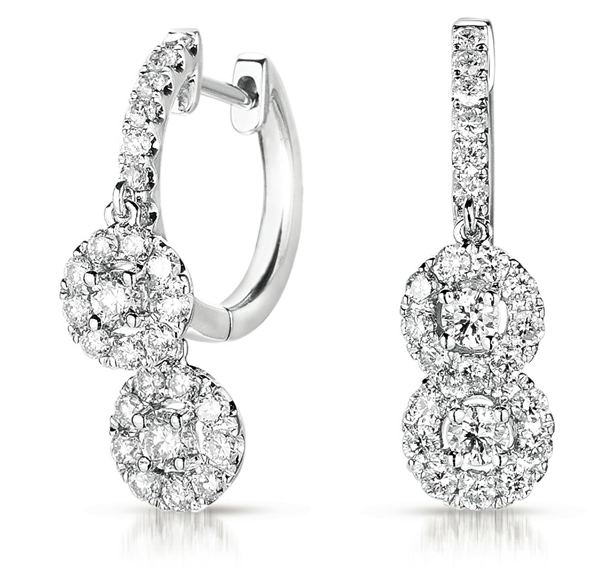 Buy E7794WG White Gold Diamond Hoop Earring