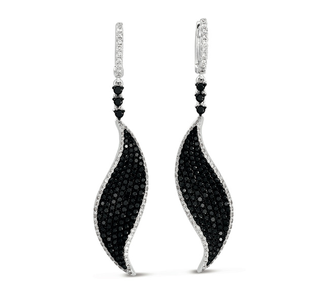 Buy E7759WG White & Black Diamond Earring