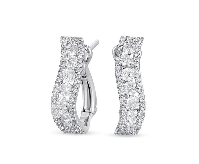 Buy E7729WG White Gold Diamond Earring