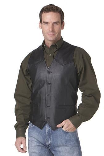 Buy Basic Lamb Nappa Vest w/ Button Front