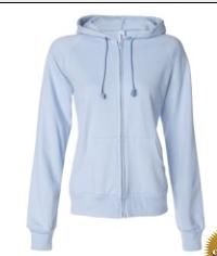 Buy Ladies' Raglan Full-Zip Hooded Sweatshirt
