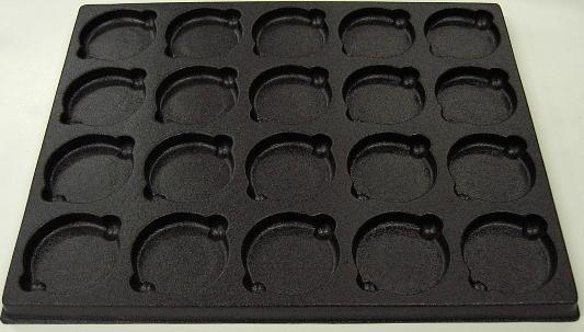Vacuum formed trays for optical lens molds buy in Van Buren on English
