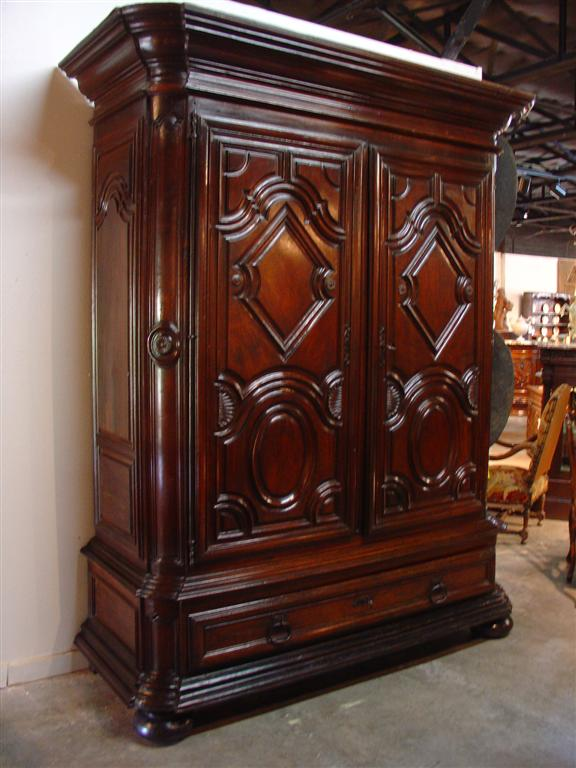 Buy Walnut Wood Armoire, Grand Period Louis XIV