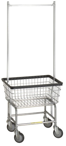 Buy Standard Laundry Cart w/ Double Pole Rack