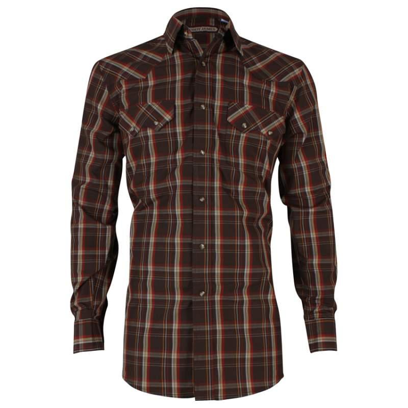Buy Men's Plaid Long Sleeve Western Shirt Cody James®