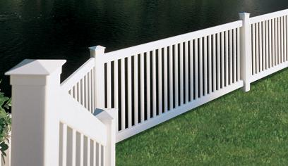 Buy Enclosed - Square Picket - white