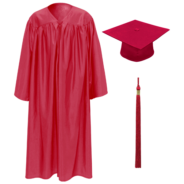 Red Little Scholar™ Cap, Gown & Tassel   FREE DIPLOMA — Buy Red ...
