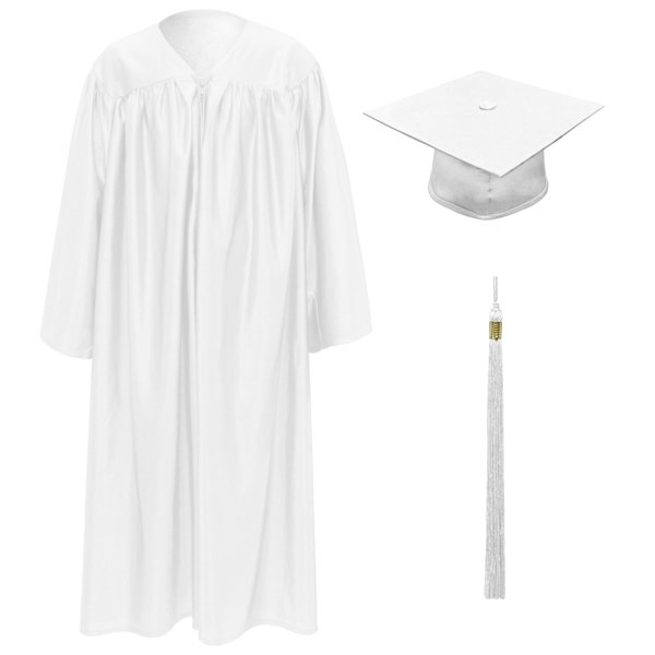 White Little Scholar™ Cap, Gown & Tassel + FREE DIPLOMA buy in Omaha