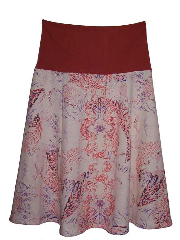 Buy Coral Print skirt