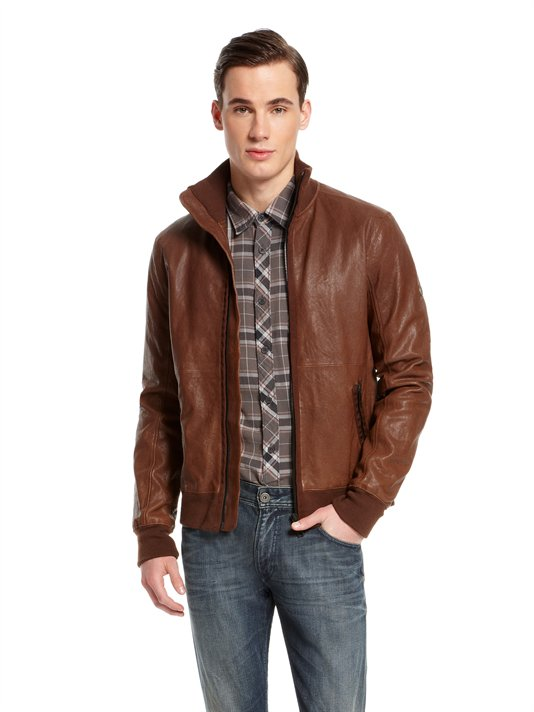 Buy DKNY Jeans Leather Jacket