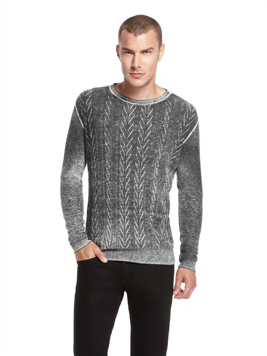 Buy DKNY Jeans Shadow Printed Crew Neck Sweater