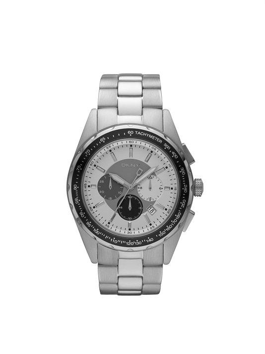 Buy Stainless Steel Matte Metallic Round Chrono Watch