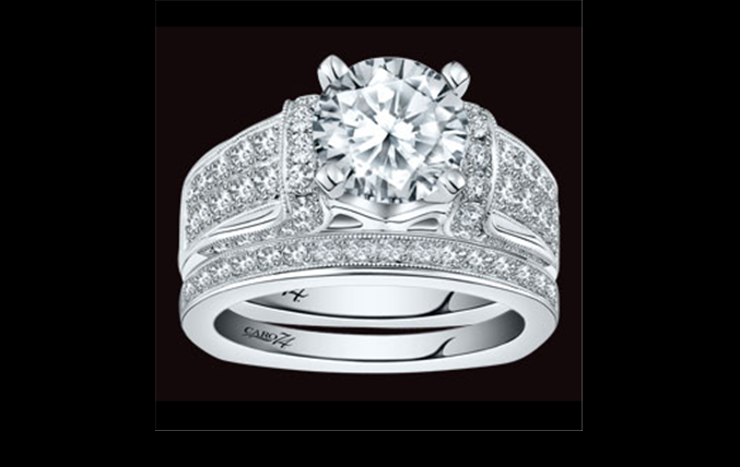 CR218W Caro74 Bridal Ring