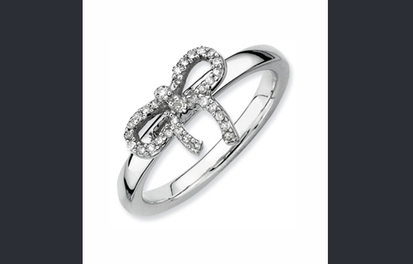 Buy Stackable Expressions Sterling Silver Bow Diamond Ring
