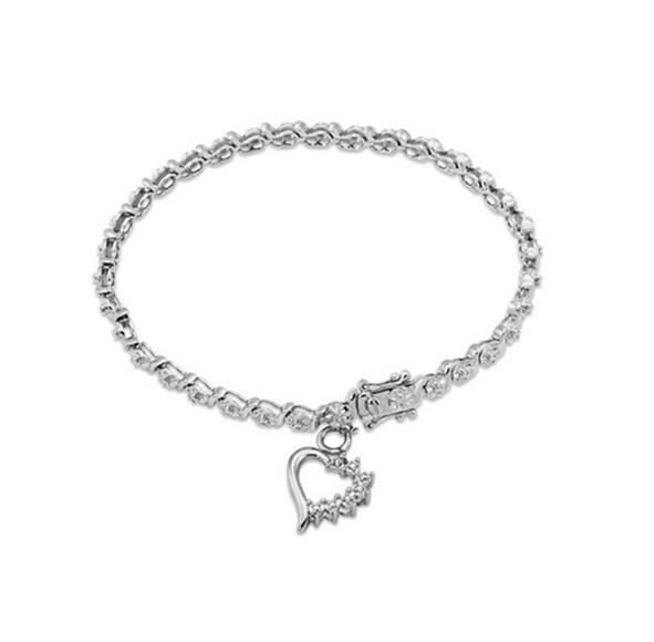 Buy Sterling Silver, Diamond Accent Fashion Bracelet