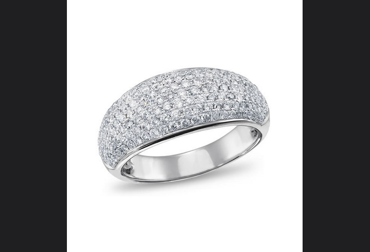 Buy 14K White Gold Diamond Fashion Ring