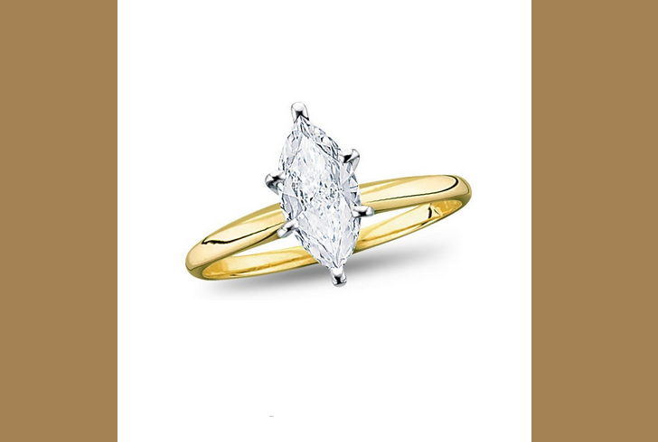 18K Yellow Gold, Solitaire Diamond Engagement Ring