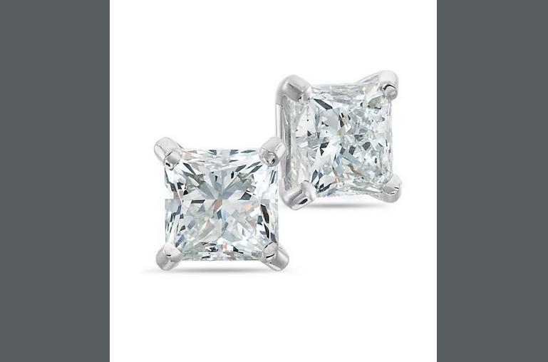 Buy Passion Stone, 14K White Gold Diamond Earrings