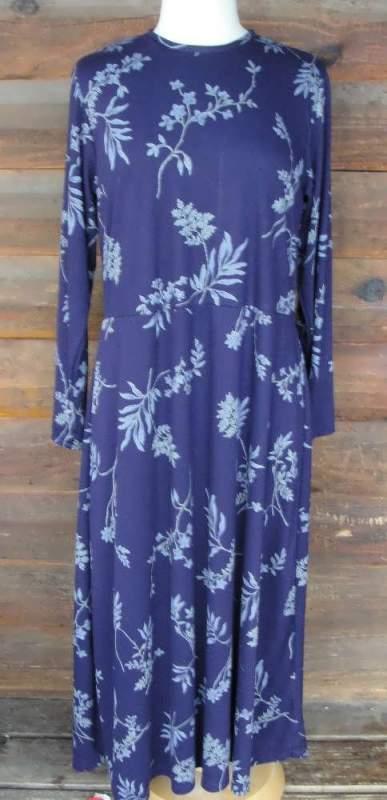 Buy Long print knit dress
